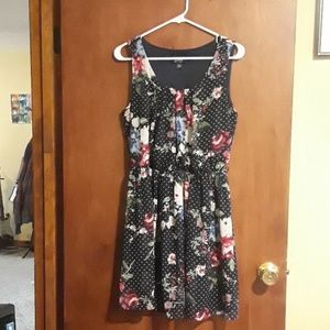 Navy Blue and Floral Dress - Will be donated 11/8